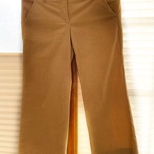 Theory Corduroy Beige Cropped Flare Pants Size 00